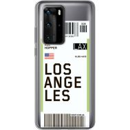 Силиконовый чехол BoxFace Huawei P40 Pro Ticket Los Angeles (39751-cc85)