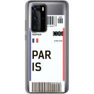 Силиконовый чехол BoxFace Huawei P40 Pro Ticket Paris (39751-cc86)