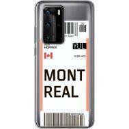 Силиконовый чехол BoxFace Huawei P40 Pro Ticket Monreal (39751-cc87)