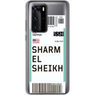 Силиконовый чехол BoxFace Huawei P40 Pro Ticket Sharmel Sheikh (39751-cc90)