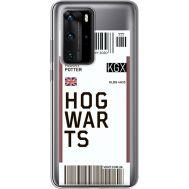Силиконовый чехол BoxFace Huawei P40 Pro Ticket Hogwarts (39751-cc91)