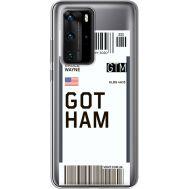 Силиконовый чехол BoxFace Huawei P40 Pro Ticket Gotham (39751-cc92)