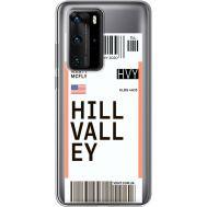 Силиконовый чехол BoxFace Huawei P40 Pro Ticket Hill Valley (39751-cc94)