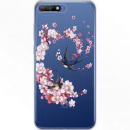 Силиконовый чехол BoxFace Huawei Y6 2018 Swallows and Bloom (934967-rs4)