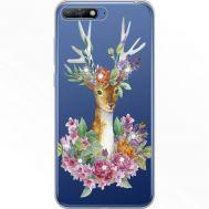 Силиконовый чехол BoxFace Huawei Y6 2018 Deer with flowers (934967-rs5)