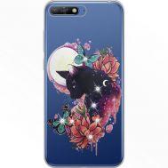 Силиконовый чехол BoxFace Huawei Y6 2018 Cat in Flowers (934967-rs10)