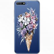 Силиконовый чехол BoxFace Huawei Y6 2018 Ice Cream Flowers (934967-rs17)