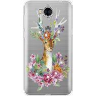 Силиконовый чехол BoxFace Huawei Y5 2017 Deer with flowers (935638-rs5)