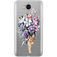 Силиконовый чехол BoxFace Huawei Y5 2017 Ice Cream Flowers (935638-rs17)