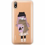 Силиконовый чехол BoxFace Huawei Y5 2019 Winter Morning Girl (37077-cc61)