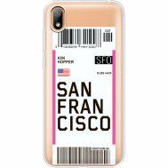 Силиконовый чехол BoxFace Huawei Y5 2019 Ticket San Francisco (37077-cc79)