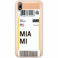 Силиконовый чехол BoxFace Huawei Y5 2019 Ticket Miami (37077-cc81)