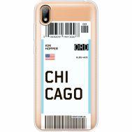 Силиконовый чехол BoxFace Huawei Y5 2019 Ticket Chicago (37077-cc82)
