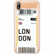 Силиконовый чехол BoxFace Huawei Y5 2019 Ticket London (37077-cc83)