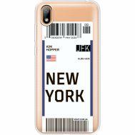 Силиконовый чехол BoxFace Huawei Y5 2019 Ticket New York (37077-cc84)