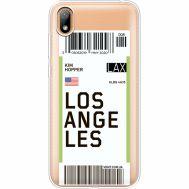 Силиконовый чехол BoxFace Huawei Y5 2019 Ticket Los Angeles (37077-cc85)