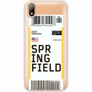 Силиконовый чехол BoxFace Huawei Y5 2019 Ticket Springfield (37077-cc93)