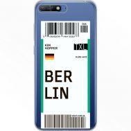 Силиконовый чехол BoxFace Huawei Y6 2018 Ticket Berrlin (34967-cc80)