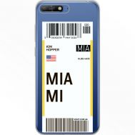 Силиконовый чехол BoxFace Huawei Y6 2018 Ticket Miami (34967-cc81)
