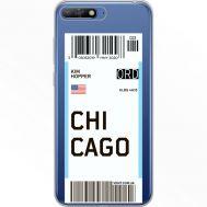 Силиконовый чехол BoxFace Huawei Y6 2018 Ticket Chicago (34967-cc82)