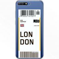 Силиконовый чехол BoxFace Huawei Y6 2018 Ticket London (34967-cc83)