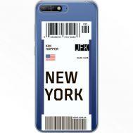 Силиконовый чехол BoxFace Huawei Y6 2018 Ticket New York (34967-cc84)