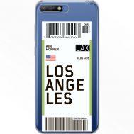Силиконовый чехол BoxFace Huawei Y6 2018 Ticket Los Angeles (34967-cc85)