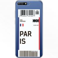 Силиконовый чехол BoxFace Huawei Y6 2018 Ticket Paris (34967-cc86)