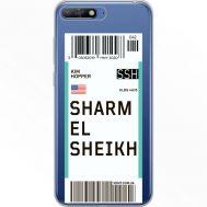 Силиконовый чехол BoxFace Huawei Y6 2018 Ticket Sharmel Sheikh (34967-cc90)