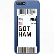 Силиконовый чехол BoxFace Huawei Y6 2018 Ticket Gotham (34967-cc92)