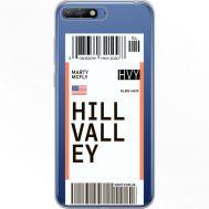 Силиконовый чехол BoxFace Huawei Y6 2018 Ticket Hill Valley (34967-cc94)
