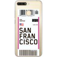 Силиконовый чехол BoxFace Huawei Y6 Prime 2018 / Honor 7A Pro Ticket San Francisco (34998-cc79)