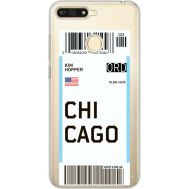 Силиконовый чехол BoxFace Huawei Y6 Prime 2018 / Honor 7A Pro Ticket Chicago (34998-cc82)