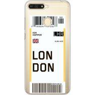 Силиконовый чехол BoxFace Huawei Y6 Prime 2018 / Honor 7A Pro Ticket London (34998-cc83)