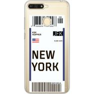 Силиконовый чехол BoxFace Huawei Y6 Prime 2018 / Honor 7A Pro Ticket New York (34998-cc84)