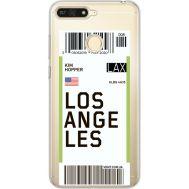 Силиконовый чехол BoxFace Huawei Y6 Prime 2018 / Honor 7A Pro Ticket Los Angeles (34998-cc85)
