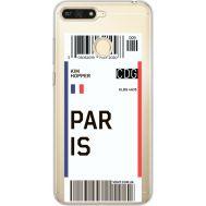 Силиконовый чехол BoxFace Huawei Y6 Prime 2018 / Honor 7A Pro Ticket Paris (34998-cc86)