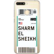 Силиконовый чехол BoxFace Huawei Y6 Prime 2018 / Honor 7A Pro Ticket Sharmel Sheikh (34998-cc90)