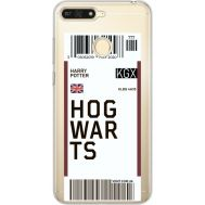 Силиконовый чехол BoxFace Huawei Y6 Prime 2018 / Honor 7A Pro Ticket Hogwarts (34998-cc91)