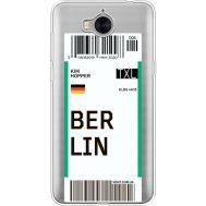 Силиконовый чехол BoxFace Huawei Y5 2017 Ticket Berrlin (35638-cc80)