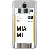 Силиконовый чехол BoxFace Huawei Y5 2017 Ticket Miami (35638-cc81)