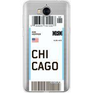 Силиконовый чехол BoxFace Huawei Y5 2017 Ticket Chicago (35638-cc82)