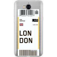 Силиконовый чехол BoxFace Huawei Y5 2017 Ticket London (35638-cc83)