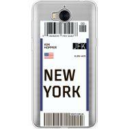 Силиконовый чехол BoxFace Huawei Y5 2017 Ticket New York (35638-cc84)