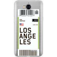 Силиконовый чехол BoxFace Huawei Y5 2017 Ticket Los Angeles (35638-cc85)