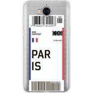 Силиконовый чехол BoxFace Huawei Y5 2017 Ticket Paris (35638-cc86)