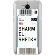 Силиконовый чехол BoxFace Huawei Y5 2017 Ticket Sharmel Sheikh (35638-cc90)