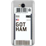 Силиконовый чехол BoxFace Huawei Y5 2017 Ticket Gotham (35638-cc92)