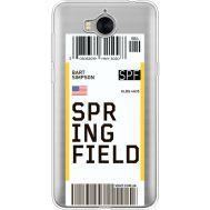 Силиконовый чехол BoxFace Huawei Y5 2017 Ticket Springfield (35638-cc93)