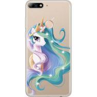 Силиконовый чехол BoxFace Huawei Y7 Prime 2018 Unicorn Queen (934966-rs3)